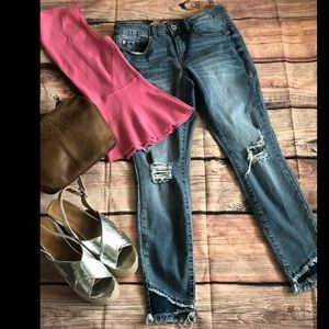 Gibson Latimer distressed skinny jeans